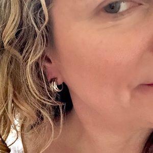 David Yurman Jewelry - David Yurman Earrings Sterling Crossover Hoops